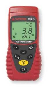 Thermocouple Thermometer 2 In type J K Amprobe Tmd 10