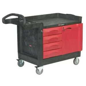 Trade Cart service Bench 49 In L black Rubbermaid Fg453388bla