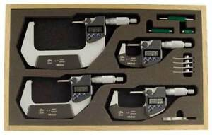 Micrometer Set 0 4in 0 00005in 4pc Mitutoyo 293 961 30