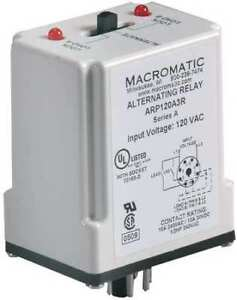 Alternating Relay dpdt 240vac 10a 8 Pin Macromatic Arp240a3r