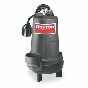 1 1 2 Hp 3 Auto Submersible Sewage Pump 230v Tether Dayton 4le22