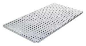 Pegboard 16in hx32in w metal gray pk2