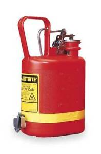 Type I Faucet Safety Can 1 Gal red Justrite 14169