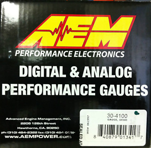 Aem Electronics Wideband Air fuel Ratio Uego Gauge Kits 30 4100 digital 52 40mm