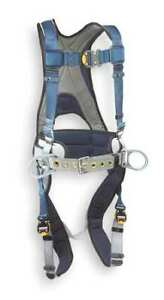 3m Dbi sala 1108507 Full Body Harness Vest Style Xl Nylon Blue