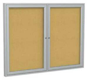 Enclosed Cork Bulletin Board 36x48 2 Door Ghent Pa23648k