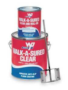 Wooster Products Was gry 1 Gal Kit Anti slip Floor Coating Epoxy Gloss Gray