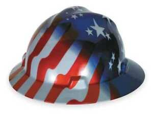 Hard Hat fullbrim usflag Stars stripes Msa 10071157