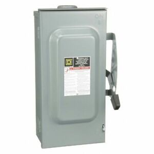 100 Amp 240vac Single Throw Safety Switch 2p Square D D223nrb