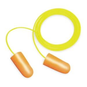 3m P1001 Nitro Corded Ear Plugs 32db Rated Disposable Tapered Shape Pk 100