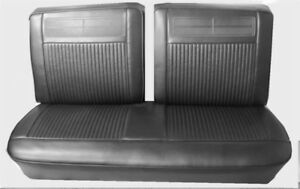 1962 64 Chevy Ii Nova Ss Black Split Front Bench Seat Cover Pui