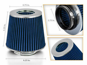 2 75 Cold Air Intake Dry Filter Blue For Tahoe Trailblazer Tornado Traverse