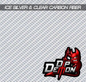 Hydrographic Film Carbon Fiber Ice Silver Clear Water Transfer Hydro Dipping