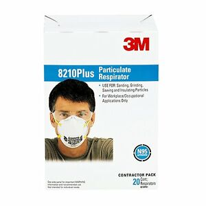 3m Particulate Respirator 8210plus N95 Pack Of 160 case Of 8