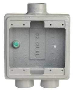 4 63 Weatherproof Electrical Box Appleton Electric Fsd 2 75