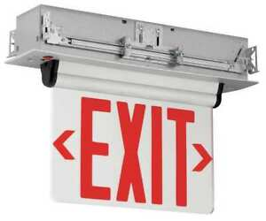 Hubbell Lighting Compass Led Exit Sign Battery Backup