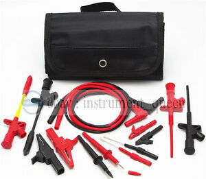 4mm Banana Plug Electronic Test Lead Kit Use For Fluke Uni t Multimeter Meter
