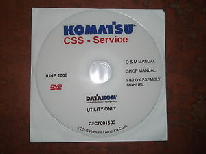 Komatsu Wb140 Wb142 Wb146 Wb150 Wb156 Backhoe Service Shop Repair Manual Cd