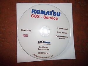 Komatsu Construction Bulldozers Service Shop Repair Manual Cd
