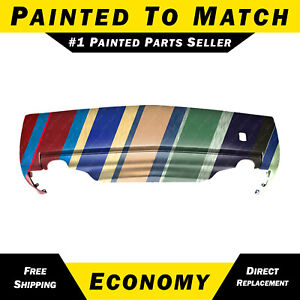 New Painted To Match Rear Bumper Cover For 2003 2007 Cadillac Cts 3 6 Dual Exh