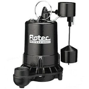 Flotec E75vlt 3 4 Hp Cast Iron High output Sump Pump W Vertical Float Switch