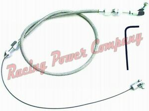Braided Stainless Universal Throttle Assembly 36 Cable With Housing