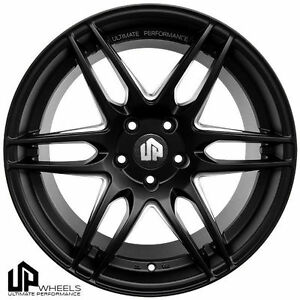 19 Ultimate Performance Up620 Black Staggered Wheels Et25 Fit Jdm Japanese Car