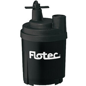 Flotec Fp0s1300x 24 5 Gpm 1 6 Hp 3 4 Or 1 Submersible Utility Pump