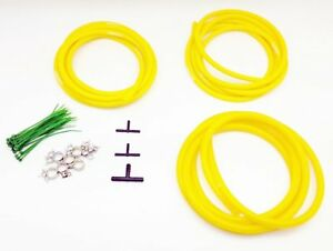 Autobahn88 Engine Room Silicone Air Vacuum Hose Dress Up Kit Yellow Fit Mustang