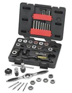 Tap And Die Set 40 Pc carbon Steel Gearwrench 3886