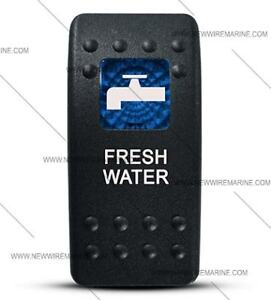 Labeled Contura Ii Rocker Switch Cover Only Fresh Water Blue Window