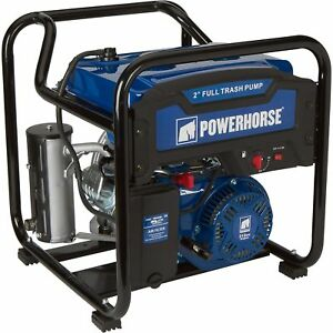 Powerhorse Extended Run Full Trash Water Pump 2in Ports 11 000 Gph