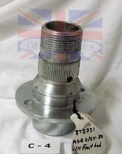Mgb Reproduction Wire Wheel Left Front Hub Front