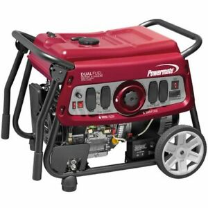 Powermate Df7500e 7500 Watt Electric Start Dual Fuel Portable Generator 49
