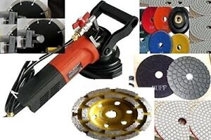 Wet Polisher Concrete Granite Masonry Cutter Diamond Polish Pad Buff Blade Cup