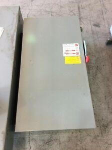 Eaton Cutler Hammer Safety Switch Dh365ngk 400 Amp 600 Volt Fusible Type 1