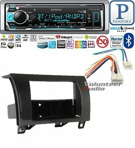 Kenwood Car Stereo Bluetooth Media Player Dash Install Package Harness Usb No Cd