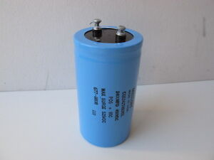 Mallory 2 400uf 450v Large Can Capacitor Aluminum Electrolytic Cgs242t450x5l