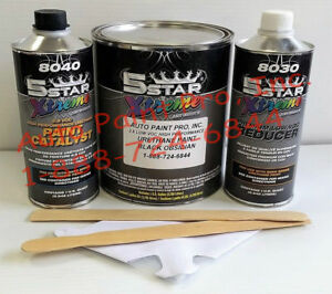 5 Star Low Voc High Performance Black Obsidian Urethane Auto Paint Single Stage