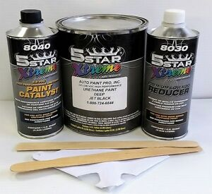 5 Star Low Voc High Performance Deep Jet Black Urethane Auto Paint Single Stage