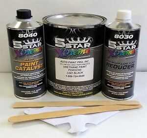 5 Star Low Voc High Performance Porsche Black Urethane Auto Paint Single Stage