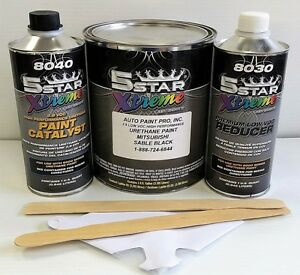 5 Star Low Voc High Performance Sable Black Urethane Auto Paint Single Stage