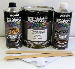 5 Star Low Voc High Performance Tuxedo Black Urethane Auto Paint Single Stage