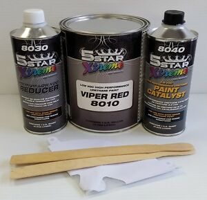 5 Star Low Voc High Performance Viper Red Urethane Auto Paint Single Stage Car
