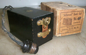 110v Jefferson Buzz Coil New In Box New Old Stock Gas Engine Spark Coil