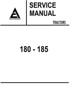Allis Chalmers 180 185 Tractor Service Manual Book Reproduction