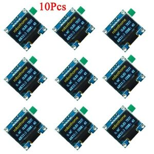 10pcs 0 96in Iic Serial 128x64 Yellow Blue Oled Lcd Led Display Module Ssd1306