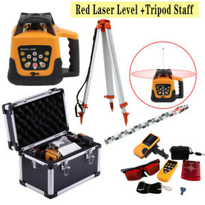Ridgeyard 500m Range Automatic Self leveling Rotary Rotating Red Laser Level Kit