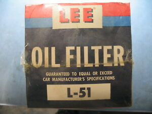 Lee L 51 Vintage Oil Filter Cadillac Chevrolet Buick Willys Ford Truck Nos 1965