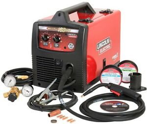 Lincoln Electric Weld Pak 180 Hd Wire Feed Welder Flux Electric Core 230v 130amp